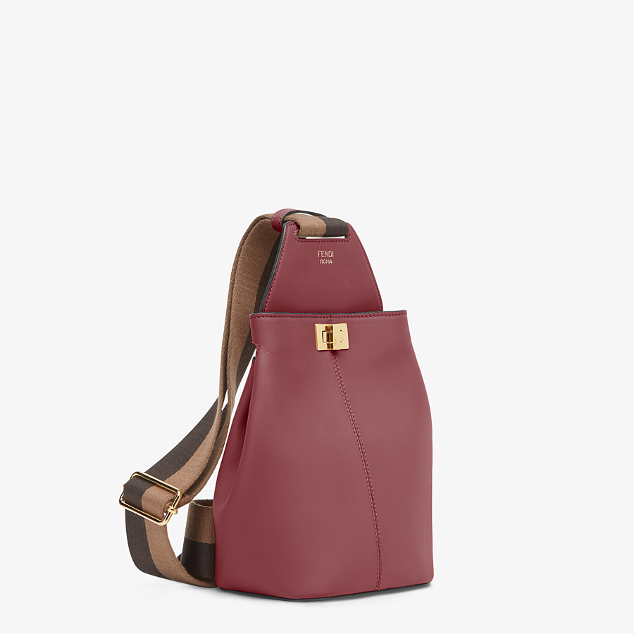 FENDI GUITAR BAG - Burgundy leather mini-bag - view 2 detail