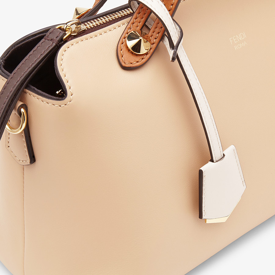 FENDI BY THE WAY MEDIUM - Beige leather Boston bag - view 6 detail