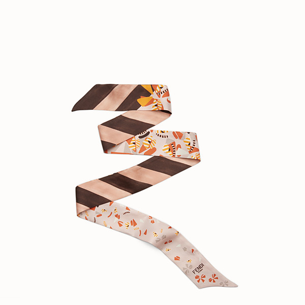FENDI FENDI WONDERS WRAPPY - Bandeau in pink and multicolour silk - view 1 small thumbnail