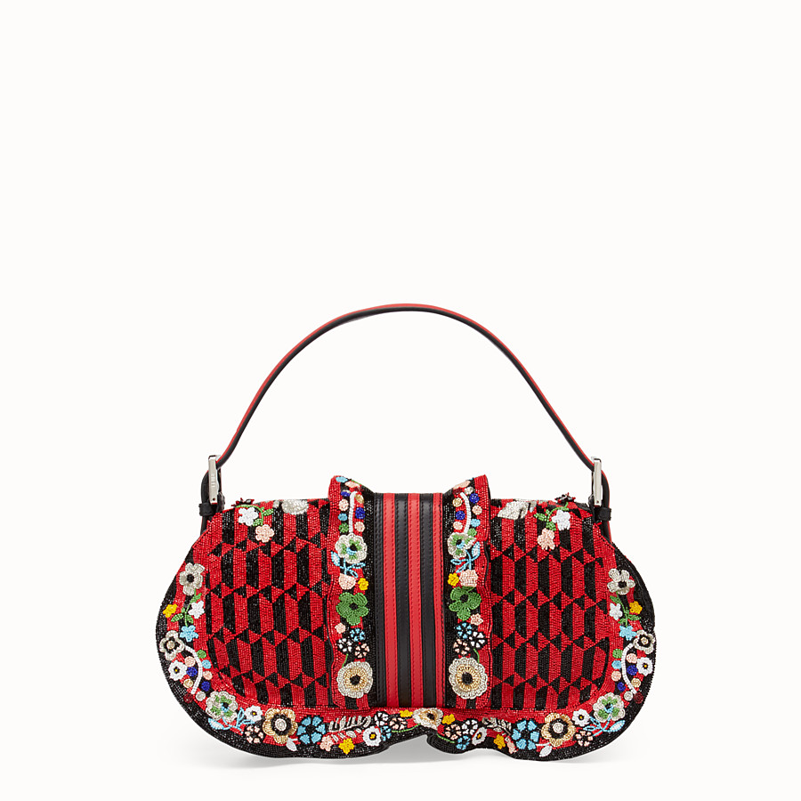 FENDI BAGUETTE - Embroidered shoulder bag with beads - view 3 detail