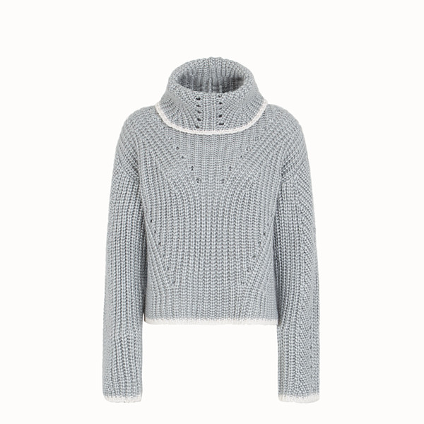 FENDI JUMPER - Grey cashmere sweater - view 1 small thumbnail