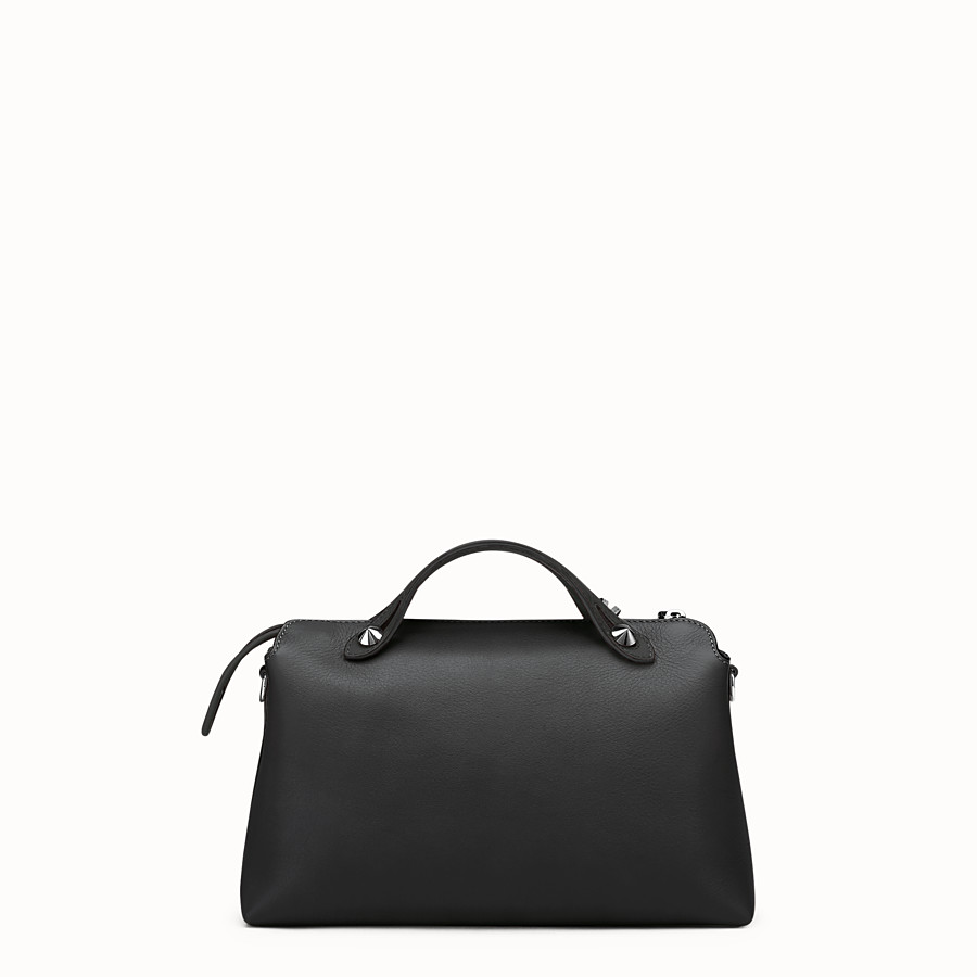 FENDI BY THE WAY REGULAR - Small Boston bag in black leather - view 3 detail