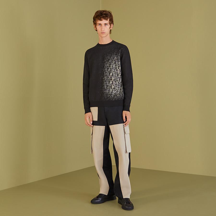 FENDI PANTS - Multicolor gabardine pants - view 4 detail