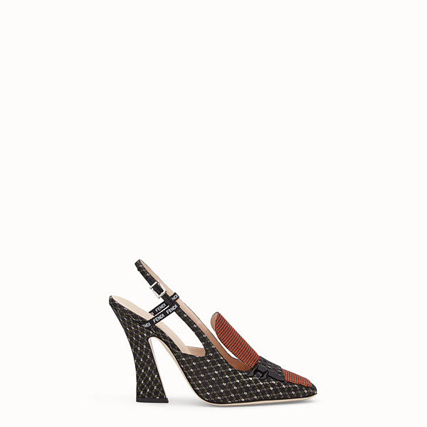 FENDI SLINGBACKS - Black nappa slingbacks - view 1 small thumbnail