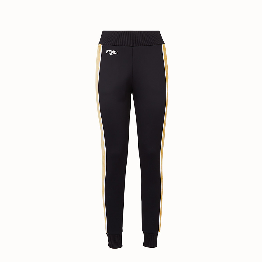 FENDI HOSE - Jogginghose aus Stoff in Schwarz - view 1 detail
