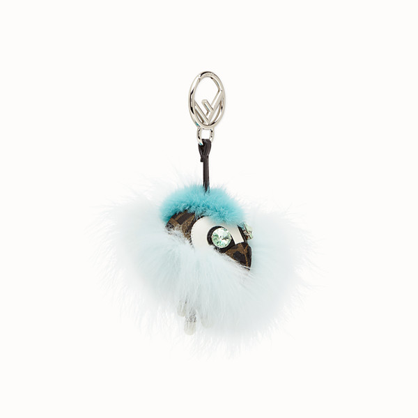 FENDI SPACE MONKEY - Pale blue fur charm - view 1 small thumbnail