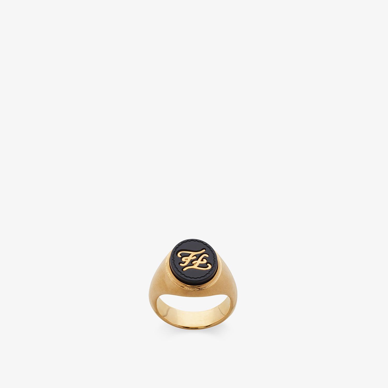 FENDI RING - Golden metal ring - view 1 detail