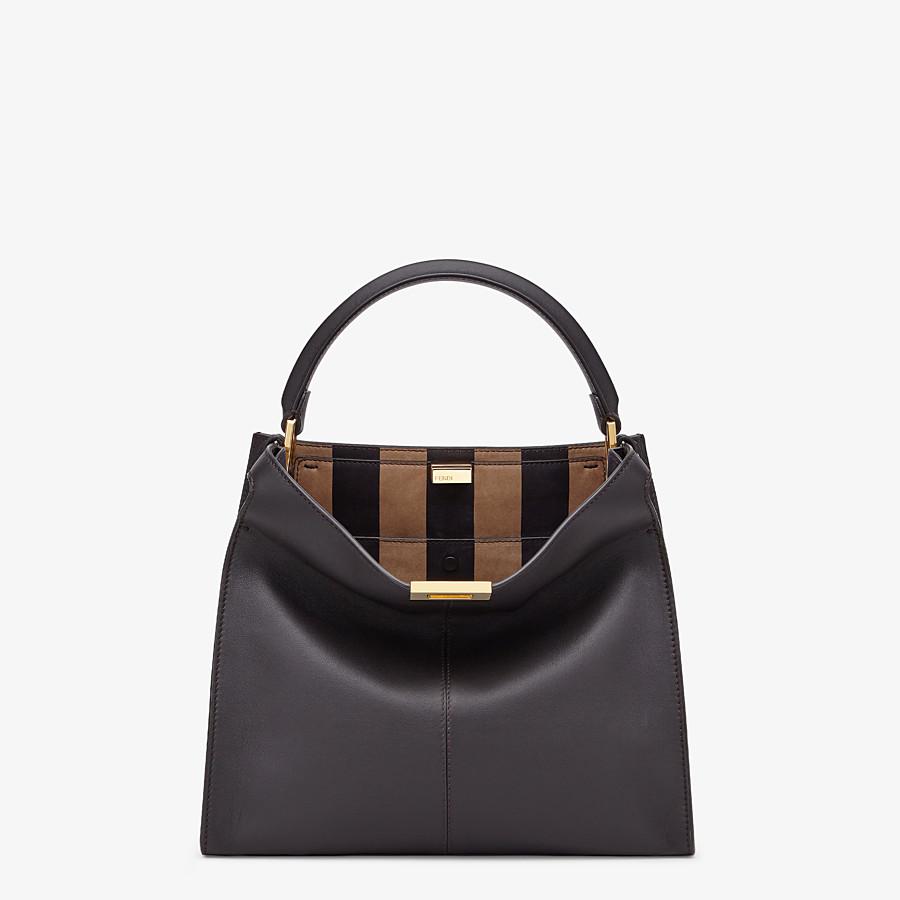 FENDI PEEKABOO X-LITE MEDIUM - Brown leather bag - view 3 detail
