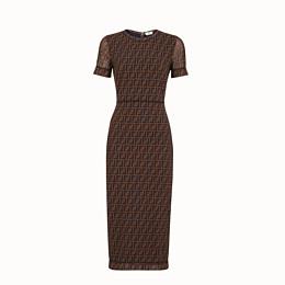 FENDI KLEID - Kleid aus Mikro-Netz in Braun - view 1 thumbnail