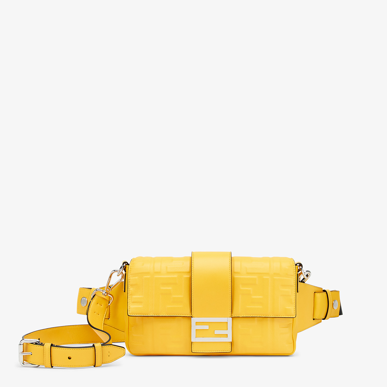 FENDI BAGUETTE - Yellow nappa leather bag - view 1 detail
