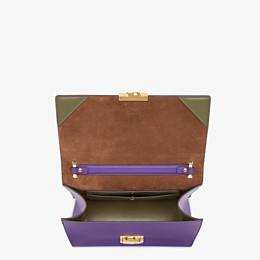 FENDI KAN U - Purple leather bag - view 4 thumbnail