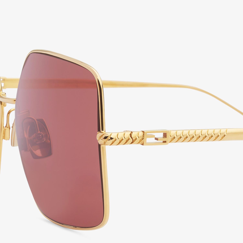 FENDI BAGUETTE - Gold-colored sunglasses - view 3 detail