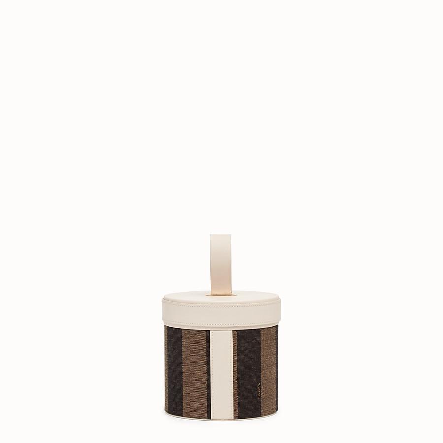 FENDI SMALL SLIPCASE - Brown jacquard box - view 2 detail