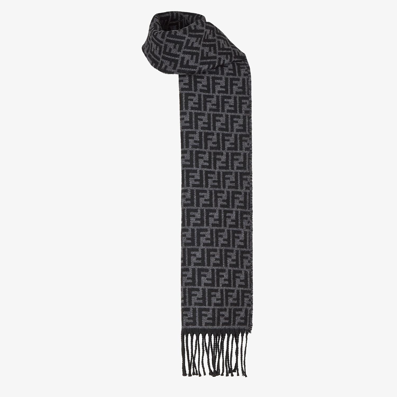 FENDI SCARF - Black wool scarf - view 2 detail