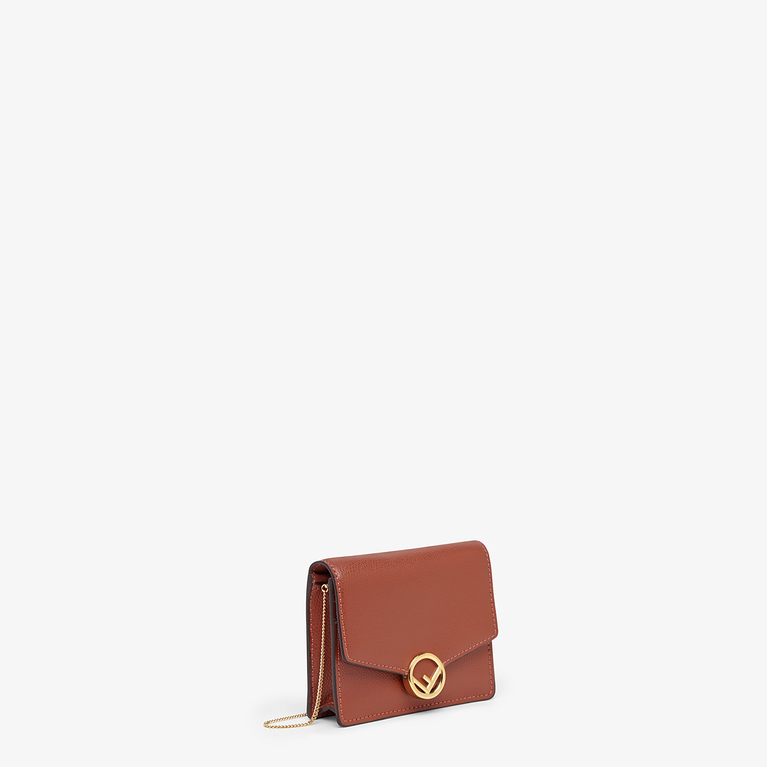FENDI WALLET ON CHAIN - Red leather mini-bag - view 2 detail