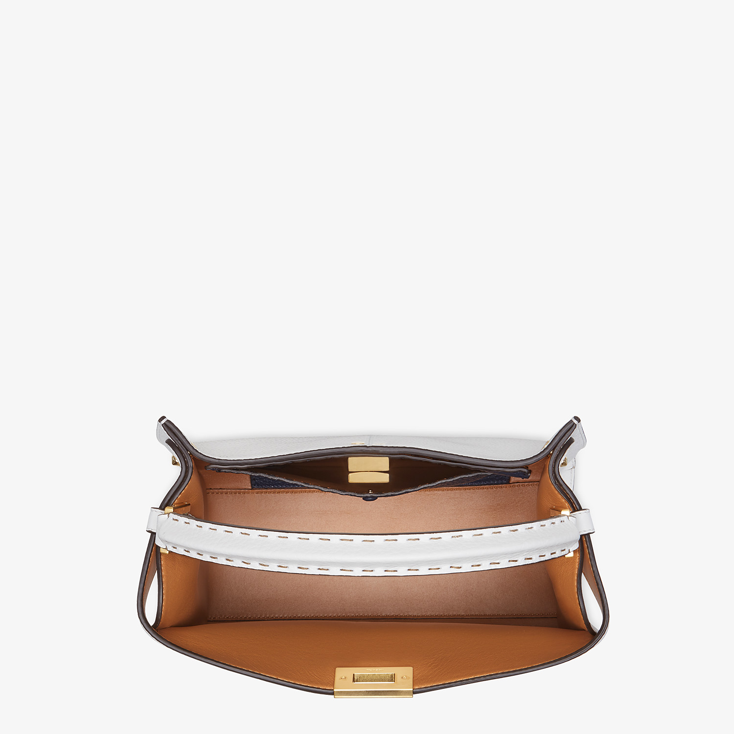FENDI PEEKABOO X-LITE MEDIUM - White leather bag - view 5 detail
