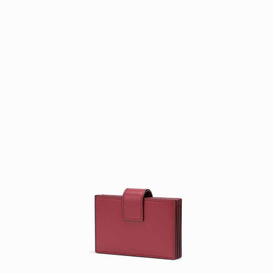 FENDI 卡片套 - 紅色皮革接襠式卡片套 - view 2 detail
