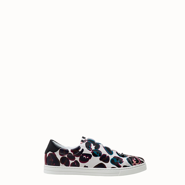 FENDI SNEAKERS - Multicolour leather sneakers - view 1 small thumbnail