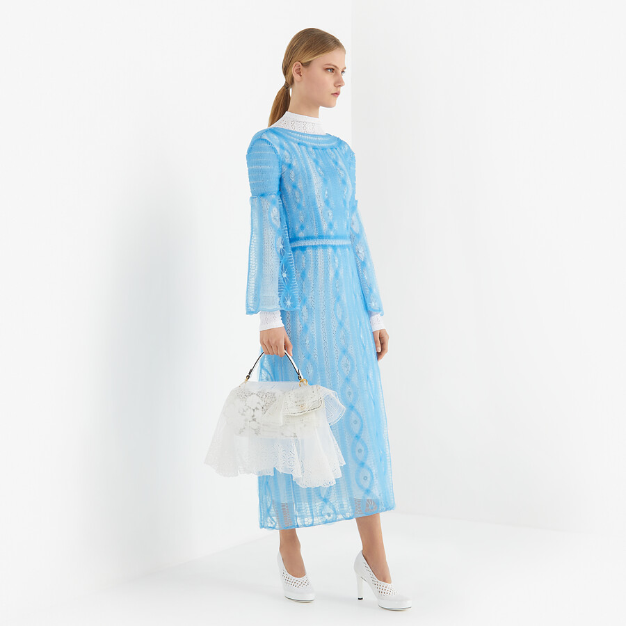 FENDI DRESS - Light blue nylon dress - view 4 detail