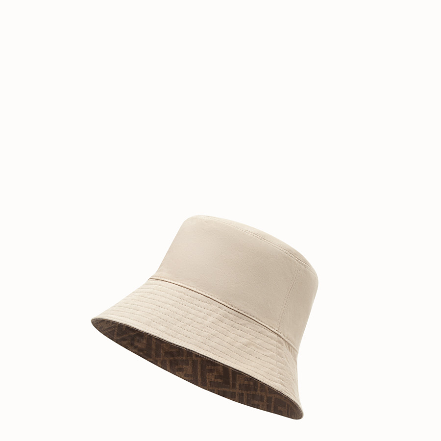 FENDI HAT - Brown tech fabric hat - view 3 detail