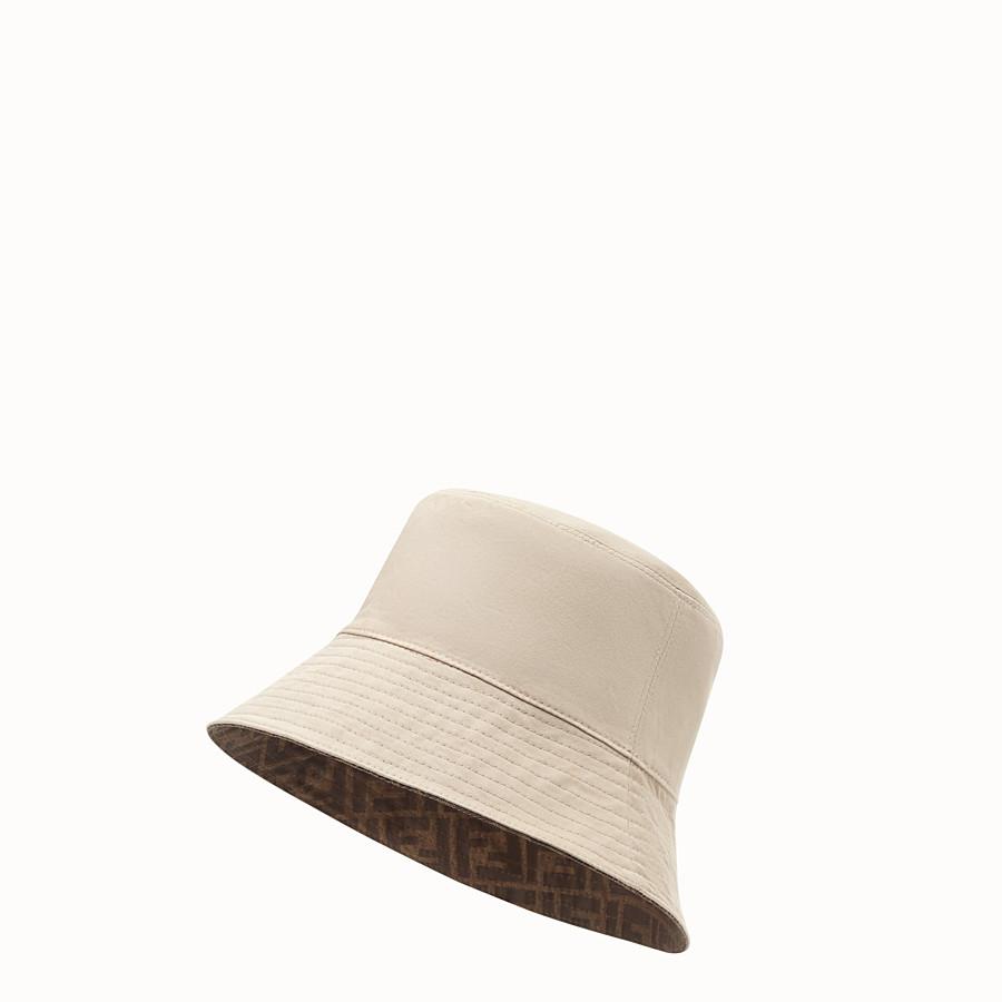 FENDI CAPPELLO - Cappello in tessuto tecnico marrone - vista 3 dettaglio