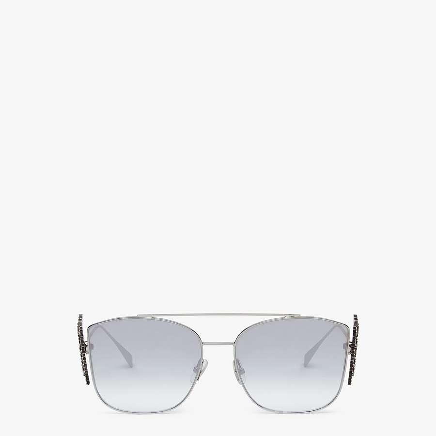 FENDI FFREEDOM - Silver-coloured sunglasses - view 1 detail
