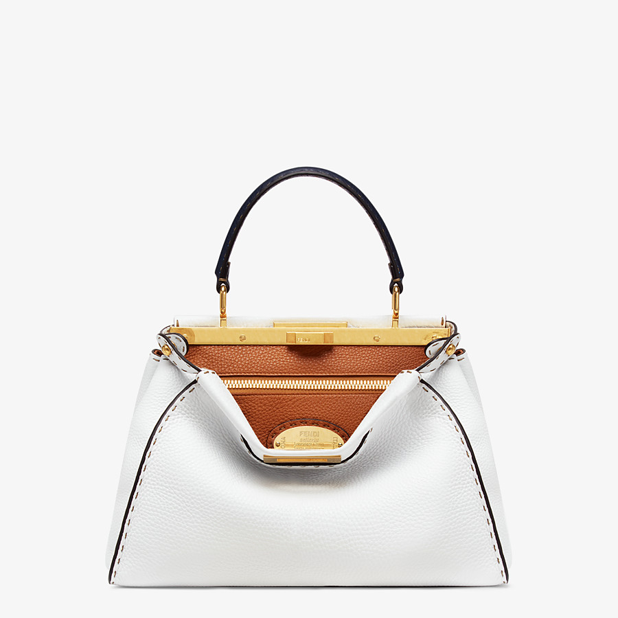 FENDI PEEKABOO ICONIC MEDIUM - White leather bag - view 1 detail