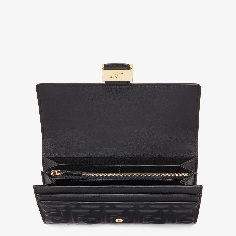 FENDI CONTINENTAL - Black nappa leather wallet - view 3 detail