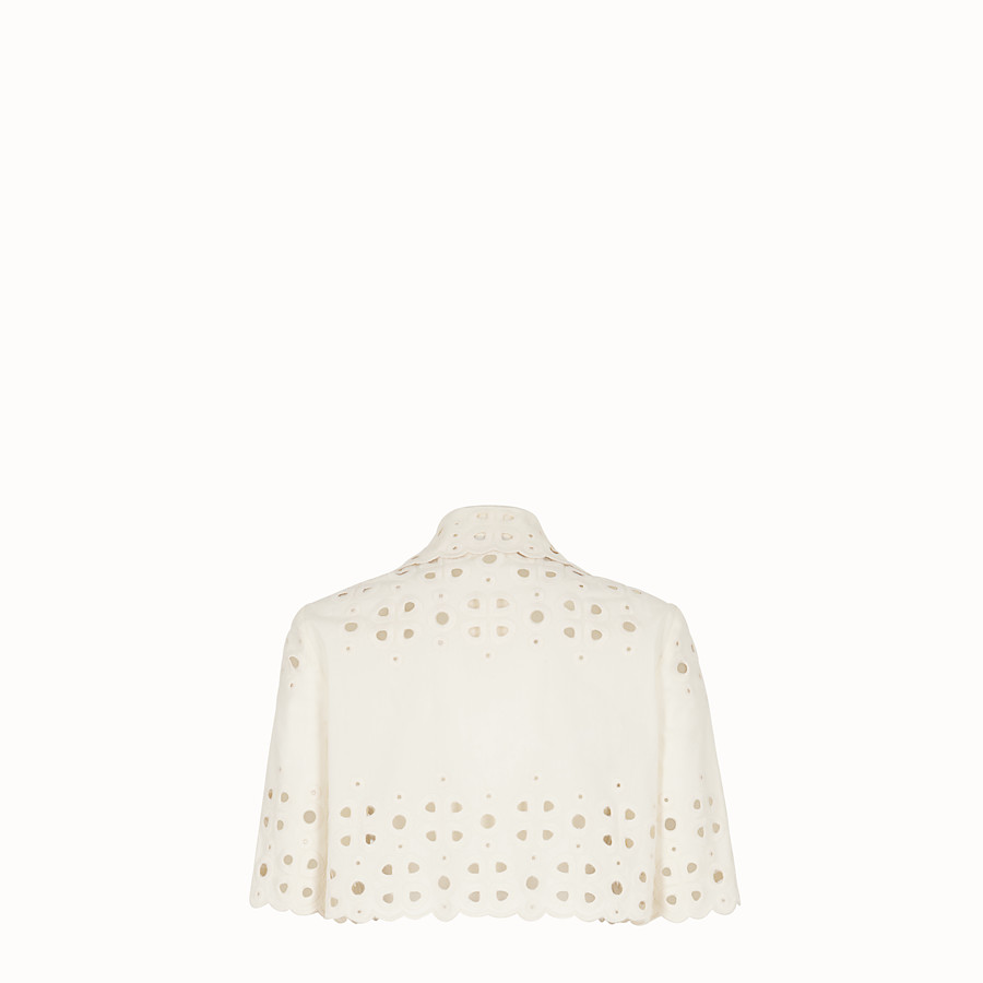 FENDI JACKET - White cotton cape - view 2 detail