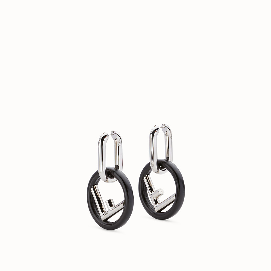 FENDI F IS FENDI EARRINGS - Black earrings - view 1 detail