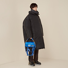 FENDI BAGUETTE FENDI AND PORTER - Tasche aus Nylon in Blau - view 7 thumbnail