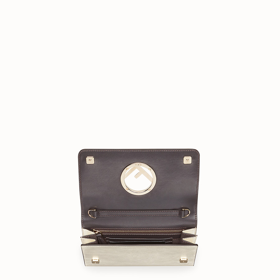 FENDI WALLET ON CHAIN - Metallic leather mini-bag - view 4 detail