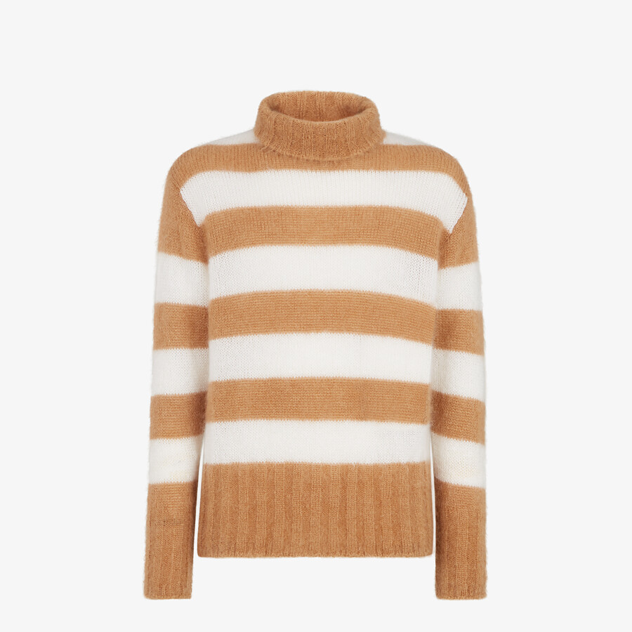 FENDI PULLOVER - Multicolor mohair pullover - view 1 detail