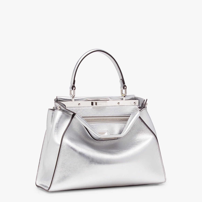 FENDI PEEKABOO ICONIC MEDIUM - Silver leather bag - view 2 detail