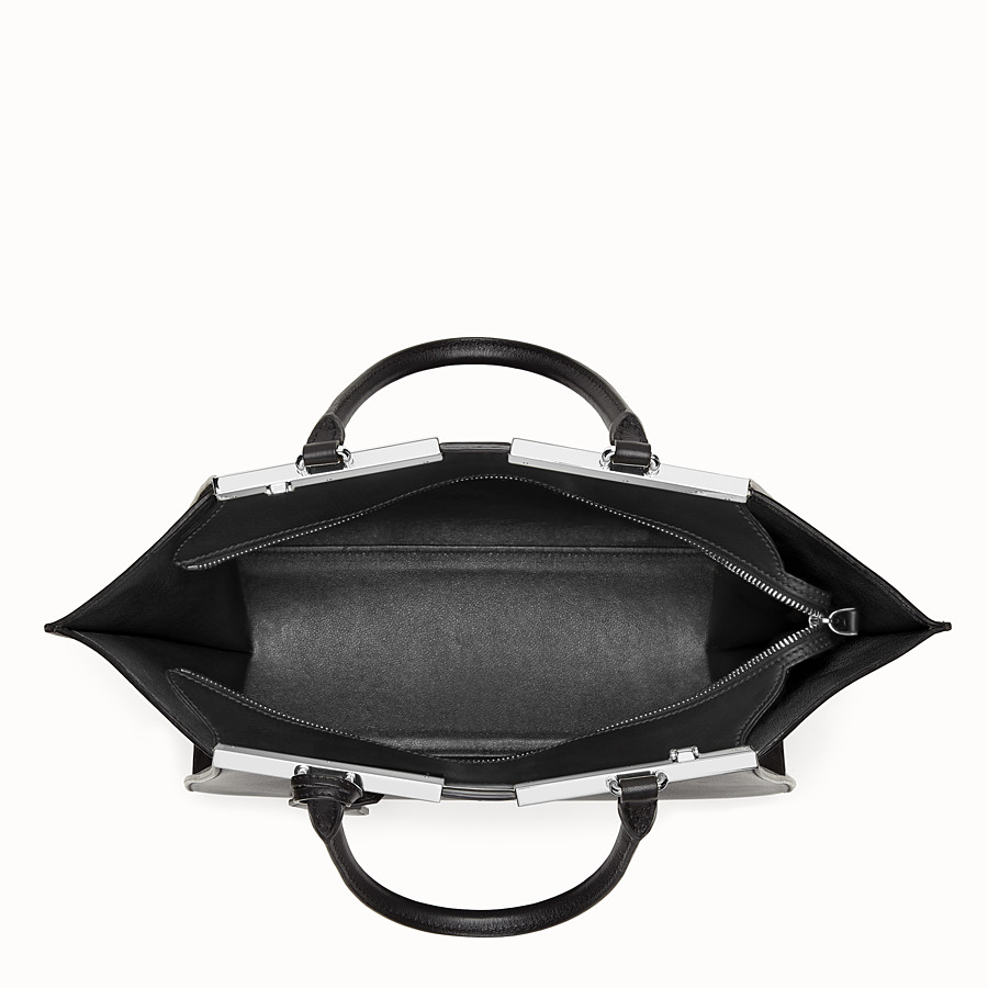 FENDI 3JOURS - shopping bag in black leather - view 4 detail
