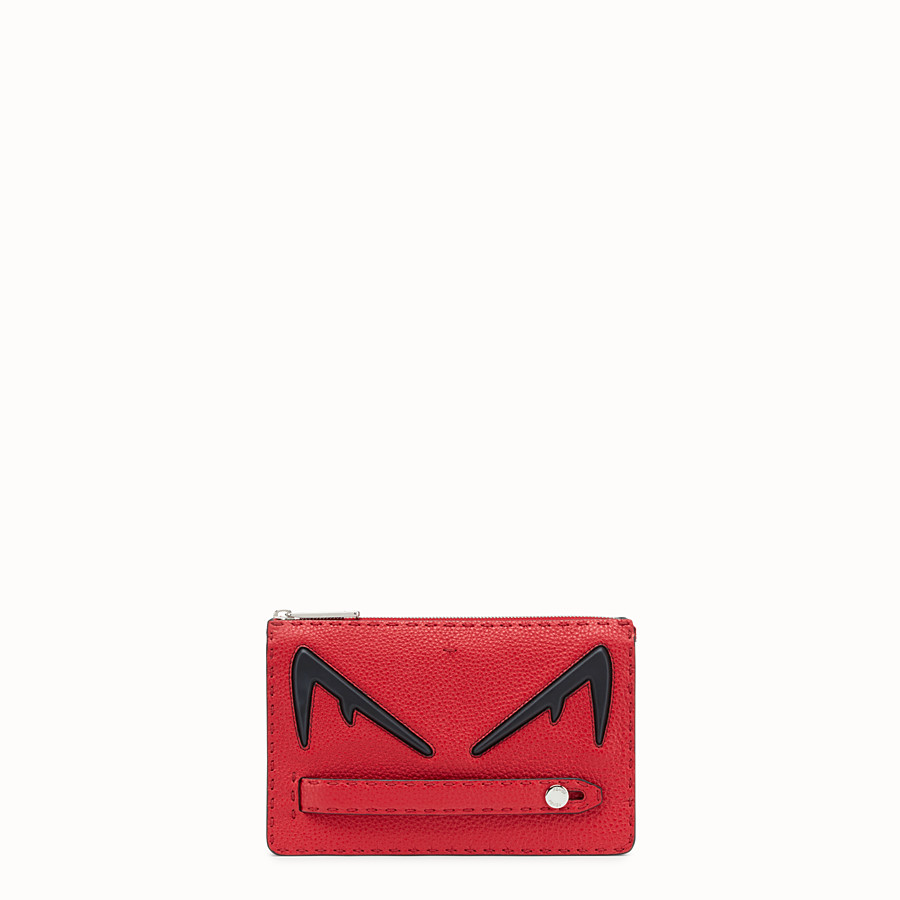 FENDI CLUTCH - Red Romano leather pochette - view 1 detail