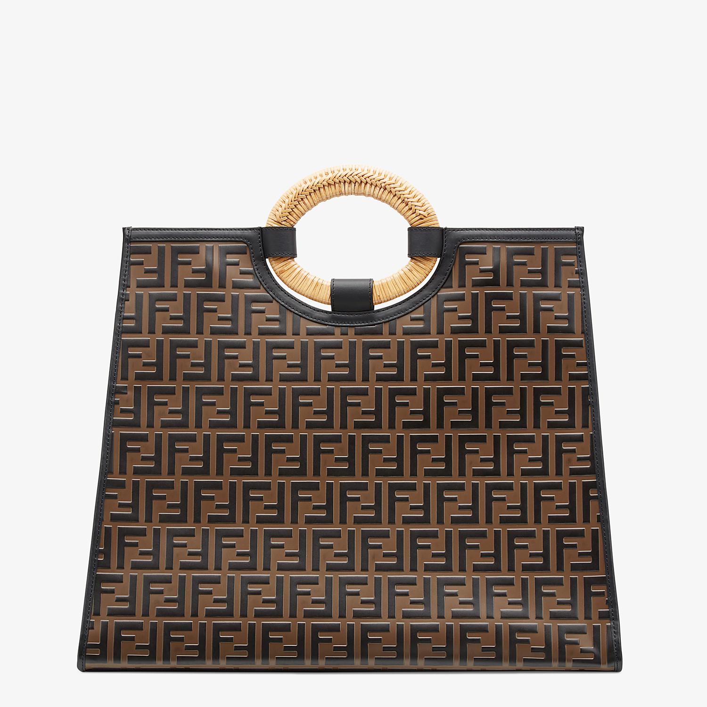 FENDI RUNAWAY SHOPPER - Multicolor leather shopper - view 4 detail