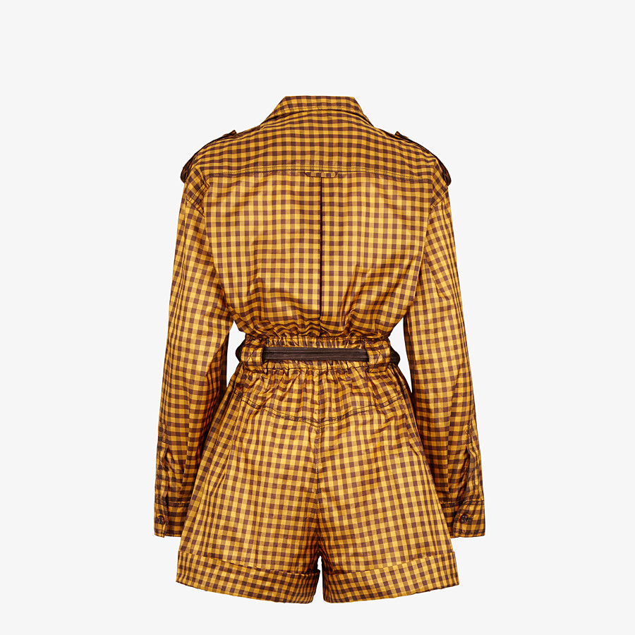 FENDI JUMPSUIT - Gingham silk jumpsuit - view 2 detail