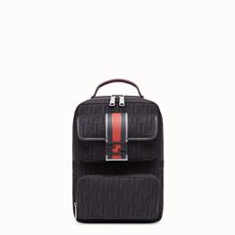 FENDI BACKPACK - Black tech fabric backpack - view 1 thumbnail