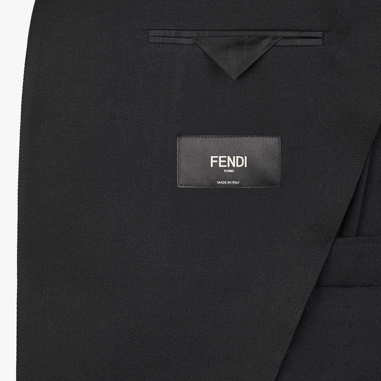 FENDI JACKET - Black twill blazer - view 5 detail