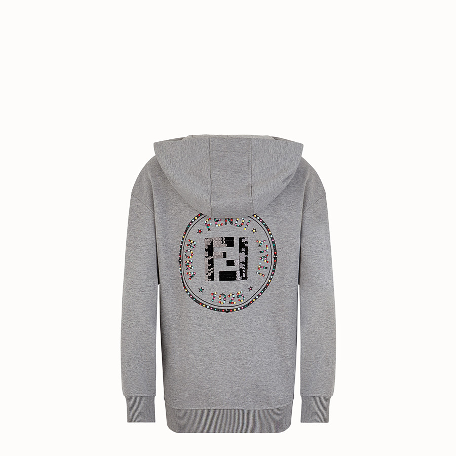 FENDI SWEATSHIRT - Grey cotton sweatshirt - view 2 detail