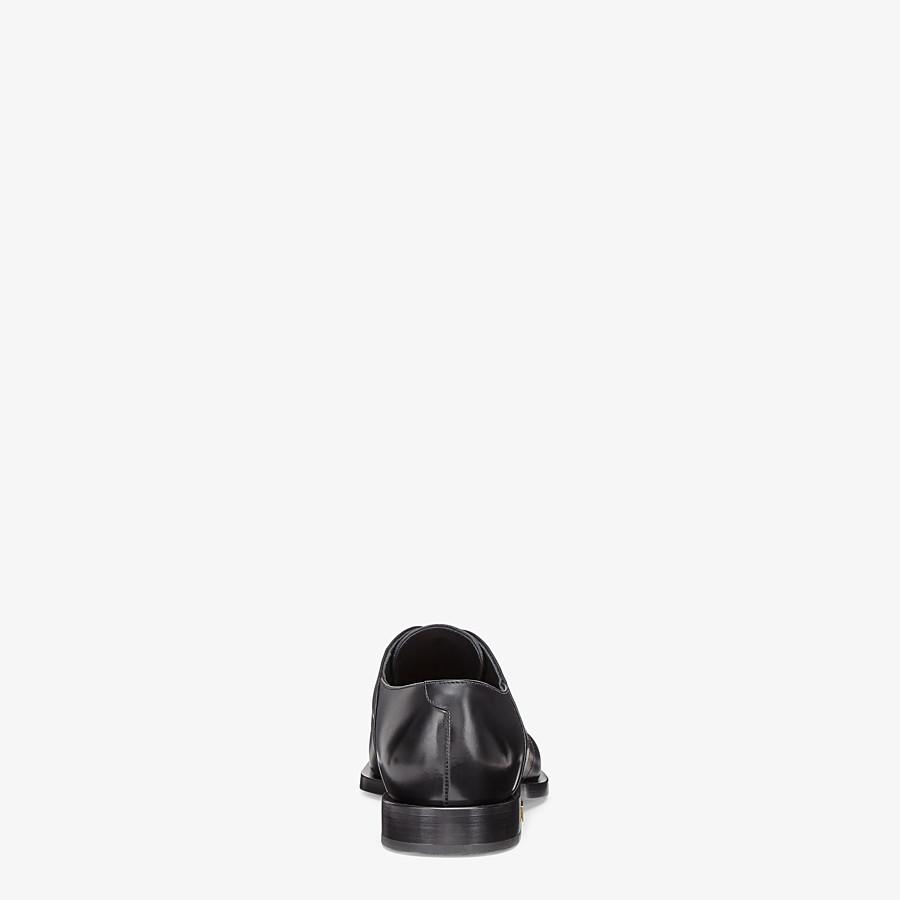 FENDI LACE-UPS - Black leather lace-up - view 3 detail