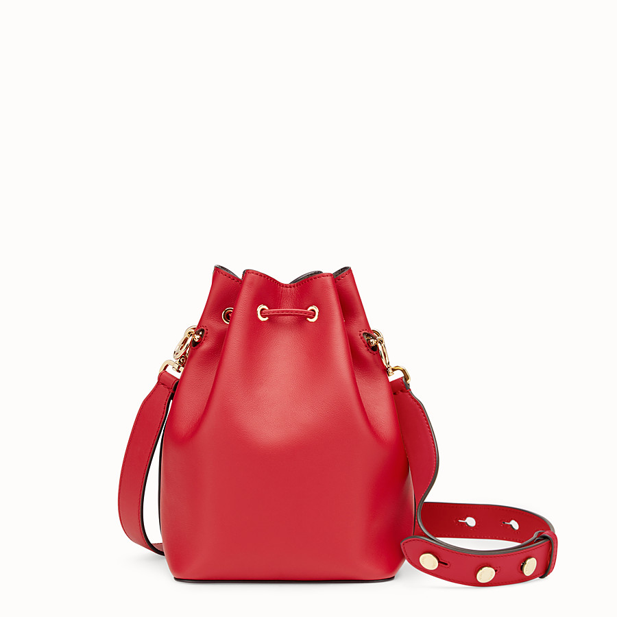 FENDI MON TRESOR - Red leather bag - view 3 detail
