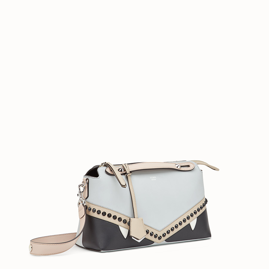 FENDI BY THE WAY REGULAR - Grey leather Boston bag - view 2 detail