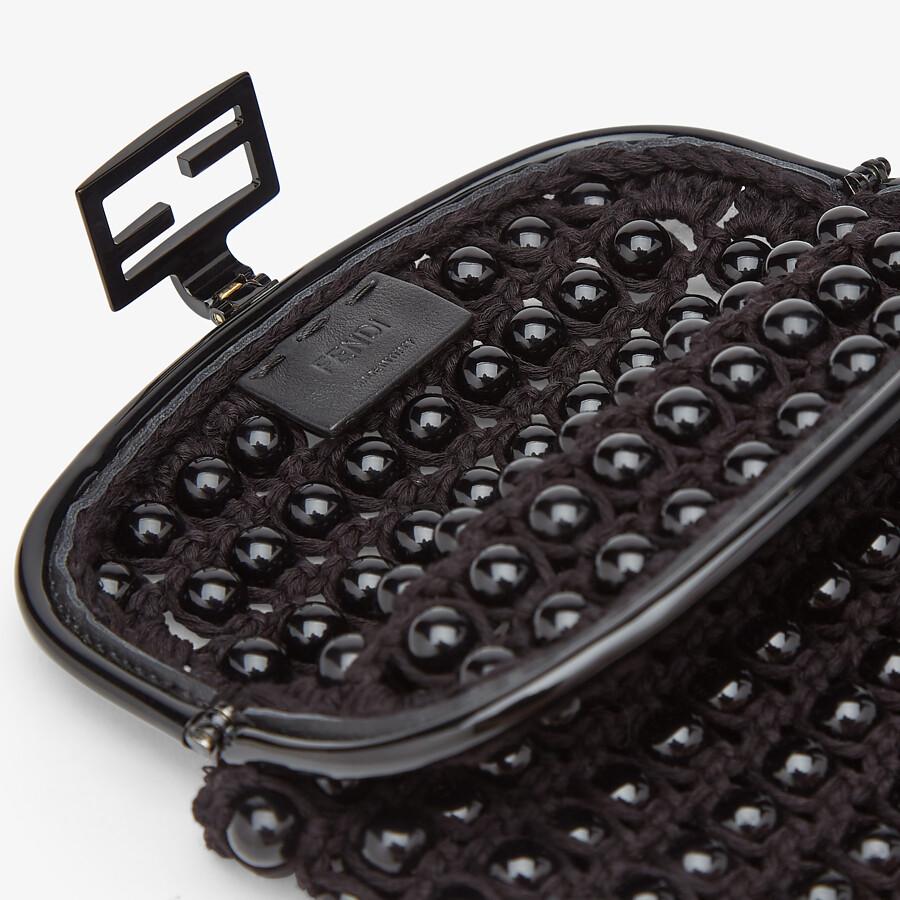 FENDI BAGUETTE PHONE BAG - Black lace mini-bag - view 4 detail
