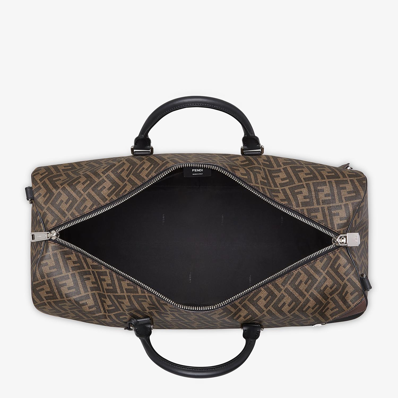 FENDI DUFFLE LARGE - Large brown fabric bag - view 4 detail