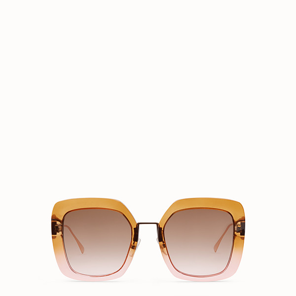 FENDI TROPICAL SHINE - Lunettes de soleil marron et rose - view 1 small thumbnail