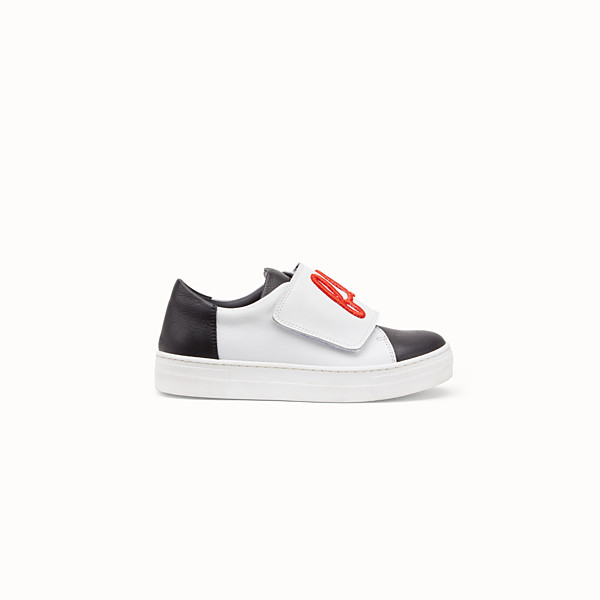 FENDI GIRL SNEAKERS - Black and white leather sneakers - view 1 small thumbnail