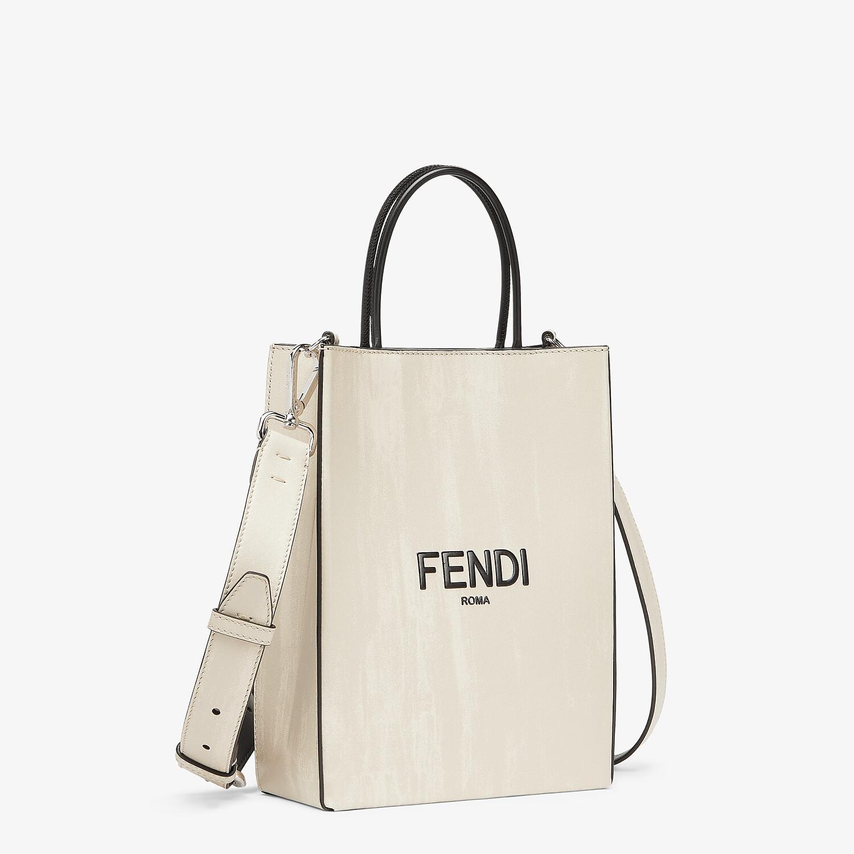 FENDI FENDI PACK SMALL SHOPPING BAG - White leather bag - view 2 detail