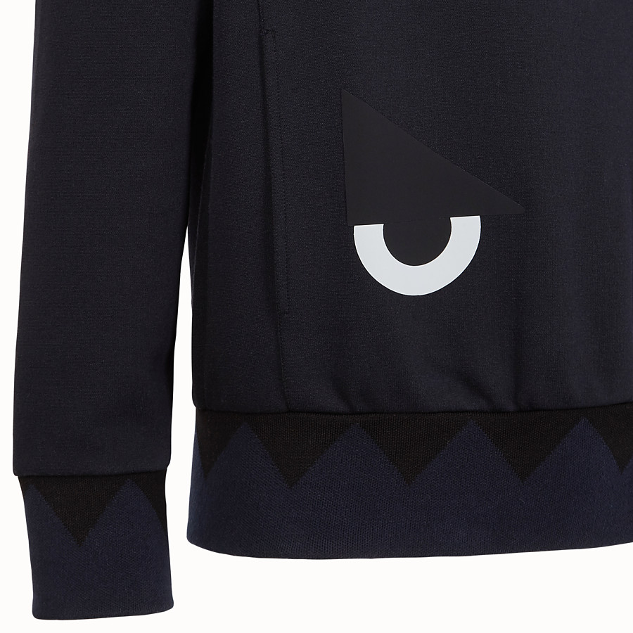 FENDI SWEATSHIRT - Blue cotton sweatshirt - view 3 detail